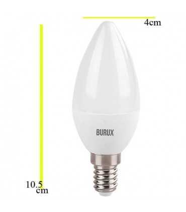 لامپ شمعی ال ای دی 5 وات بروکس لامپ ال ای دی توپی