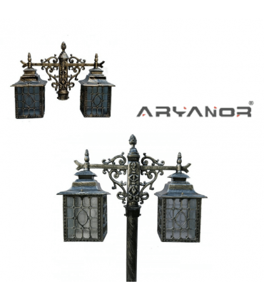 چراغ پارکی دو شعله پیکسل آریانور - 1