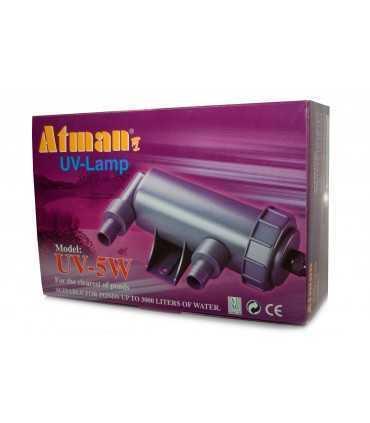 لامپ استریلیزه کننده یو وی مناسب برای آکواریوم مدل آتمن 5 واتی UV