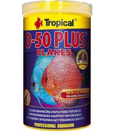 غذای پولکی دیسکاس D-50 Plus بسته 250 میل تروپیکال غذا آب شیرین